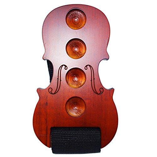 MOREYES Cello Endpin Stopper Wooden Anchor Rest for Cello Anti Slip (Red) (Cello Pin Stop)