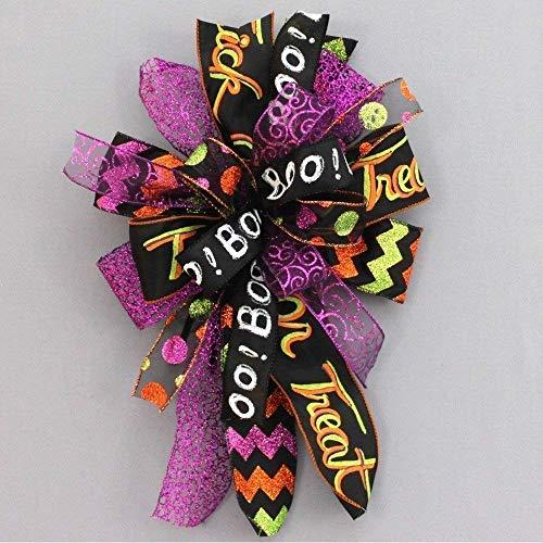 Whimsical Halloween Wreath Bow - 10