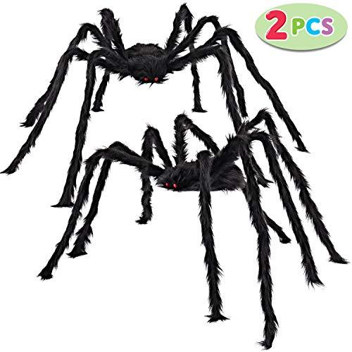 Halloween Spider Decorations Make (JOYIN 2 Pack 5 Ft. Halloween Outdoor Decorations Hairy Spider)