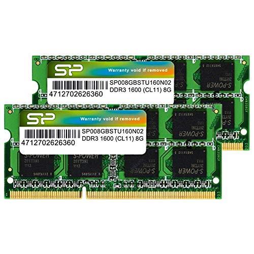 (Silicon Power Hynix IC 16GB (2 x 8GB) DDR3L RAM 1600MHz (PC3 12800) 204 pin CL11 1.35V Non ECC Unbuffered SODIMM Laptop Memory Module - Low Voltage)