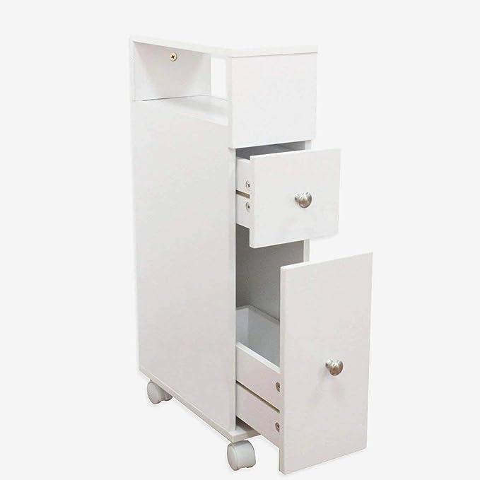 MAIMAITI Mueble de baño estantería de baño con Ruedas 2 ...