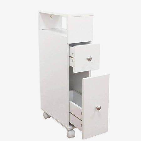 Cassettiere Bagno Con Ruote.Maimaiti Mobile Bagno Bianco Con Ruote Ci Sono Due Piccoli