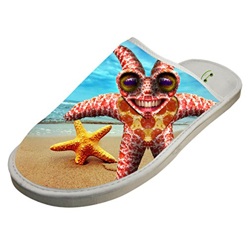 Cotton Funny Strange Starfish House Slippers Baboosh Chinela - Monster Sunglasses Energy