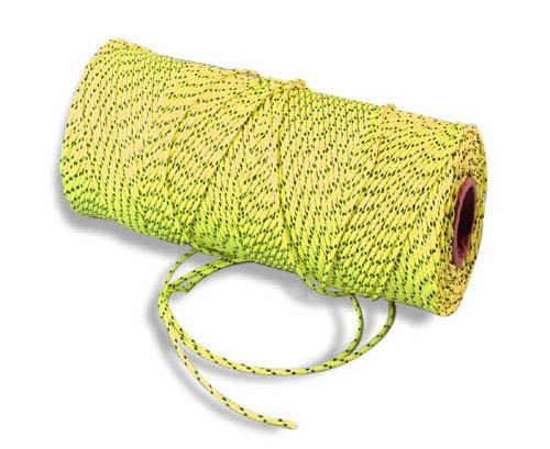 Bon 11-286 18# 500-Feet Bonded Braided Nylon Line Yellow with Black Flecks Bon Tool