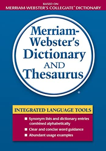 Merriam-Webster\u0027s Dictionary and Thesaurus 1st Edition Kindle Edition  sc 1 st  Amazon.com & Merriam-Webster\u0027s Dictionary and Thesaurus - Kindle edition by ...