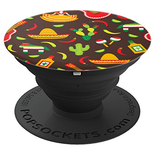 Mexican Pride No Border Wall - PopSockets Grip and Stand for Phones and Tablets by USA Pops