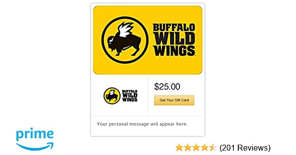 Amazon com: Buffalo Wild Wings Email Gift Card Configuration