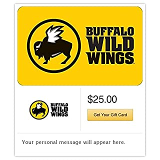 Buffalo Wild Wings Email Gift Card (B00MV9FNWS) | Amazon price tracker / tracking, Amazon price history charts, Amazon price watches, Amazon price drop alerts