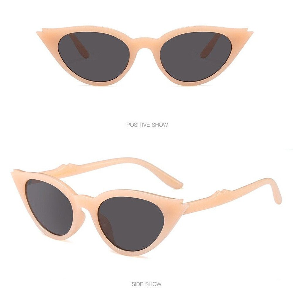 Redvive Top Retro Vintage Unisex Cat Eye Sunglasses Rapper Rhombic Shades Glasses