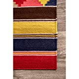 nuLOOM Ladonna Flatweave Tribal Area Rug, 5' x