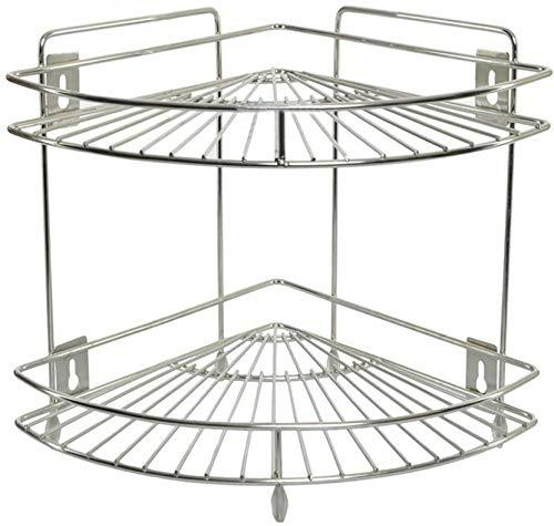 Sawan Shopping Mart Best Corner Stand Diamond Multipurpose Storage Corner Rack Stand/Shelf Stainless Steel Kitchen Rack (Silver) Price & Reviews