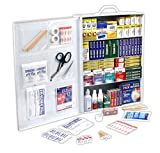 The Rapid Care First Aid 1110 piece industrial first aid cabinet is a 4-Shelf ANSI/OSHA approved industrial first aid kit housed in a moisture resistant wall mountable metal cabinet. This heavy duty first aid station is perfect for job sites, large o...
