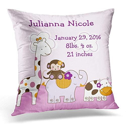 Fashion Pink Baby Jacana Girl Keepsake Cute Unique Pillowcase Cushion Cover 18x18 inches -