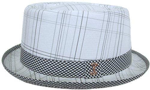 Who Ced Summer Pork Pie Hat (White / (Plaid Pork Pie Hat)
