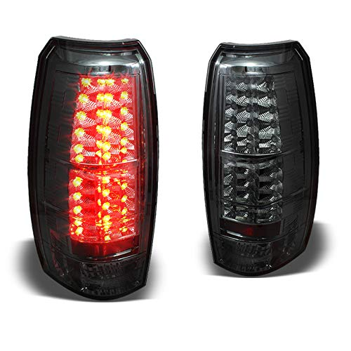 - Xtune Smoked 2007-2014 Chevy Avalanche LED Tail Lights Smoke Lamps Rear Brake New Pair L+R 2008 2009 2010 2011 2012 2013