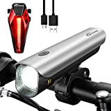 TOPTREK USB Rechargeable Bike Lights Led Headlight and Tail Light Set,Waterproof Bike Lamp Super Bright CREE LED Front Lights for Bicycles,Kids,City,Mountain,Road & MTB Bike Safety Lights