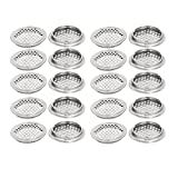 Rannb 20pcs Stainless Steel Round Air Vent Louver for Cabinet Bathroom Office Kitchen Ventilation