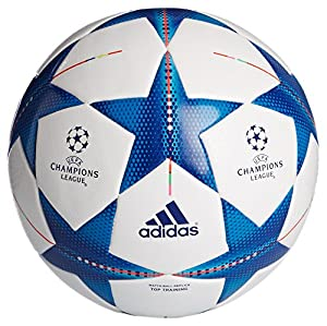 adidas Fußball Finale 15 Top, White/Bright Cyan/Bright Blue, 5, S90233
