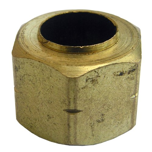 LASCO 17-6115 1/4-Inch Compression Brass Nut and Sleeve 2-Piece