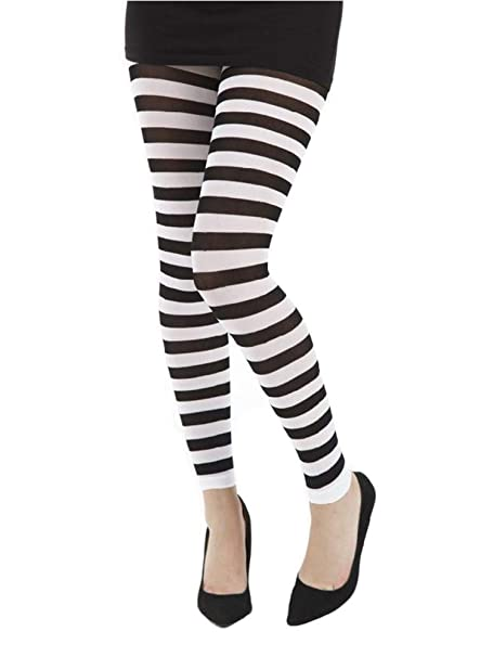 14ed12e8b8301 Pamela Mann Twickers Stripe Footless Tights-Flo Blue-One Size at ...