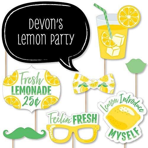 (Custom So Fresh - Lemon - Photo Booth Props - Personalized Citrus Lemonade Party Supplies - 20 Selfie Props)