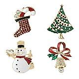 Christmas Brooch Pins set Holiday Brooch Xmas Pin Lot Party Favor set Christmas gifts snowman pins christmas pins set