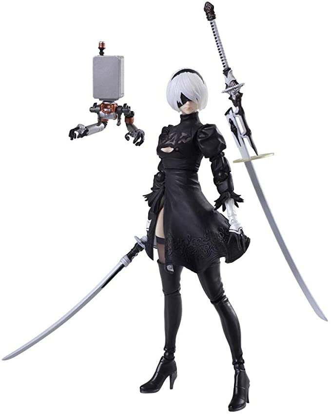 NieR:Automata No.2 Type B 2B And Machine Lifeform Action Figure New in Box