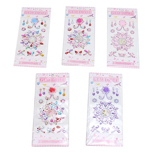 Crystal Stickers Scrapbook - Monrocco 9 pcs Self-Adhesive Rhinestone Sticker Gems Stickers Jewel Stickers Crystal Diamond Stickers for Crafts Scrapbook
