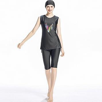 3dcb186097c ziyimaoyi Women Sleeveless Muslim Swimwear Islamic Modest Swimwear Lady  Swimsuit: Amazon.co.uk: Sports & Outdoors