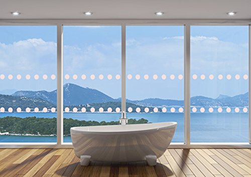 Tintfit Window Films GLASS WINDOW SAFETY DOTS MANIFESTATIONS CIRCLES - 50mm x 4m