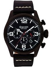 Gigandet Herren Uhr Analog Quarz mit Leder Armband G20-003