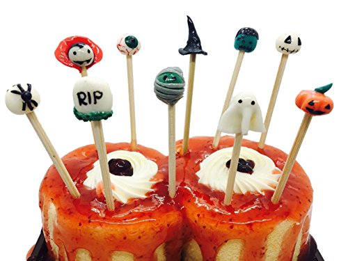 30 pcs. Holloween Cake & Cupcake Toppers, Cocktail Picks And Party Decoration, Size 4 inch. for $<!--$23.99-->