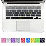 DHZ Backlit Gray Gradient Series Ombre Keyboard Cover Silicone Skin for MacBook Air 13