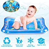Baby Toys Tummy Time Mat - TFS Inflatable Water Play Mat for Infants & Newborns Toy, Activity Center Sensory Development Toys for 0 3 6 9 12 Months Old Boys & Girls Gifts