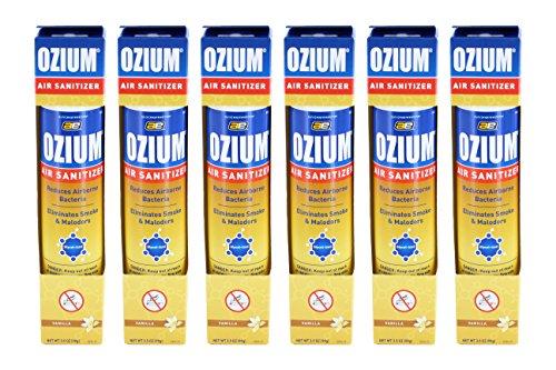 [해외]오 지움 스모크 & amp; /Ozium Smoke & Odor Eliminator Car & Home Air Sanitizer   Freshener, 3.5oz Spray Vanilla Scent - Pack of 6