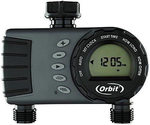 Premier Automatic Seals - Orbit Digital Hose Sprinkler Irrigation Timer for Vacation Lawn, Plant, and Garden Watering (2 Valve)