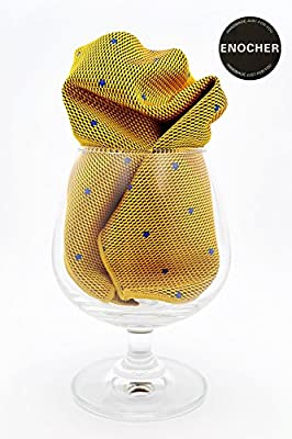 Yellow Blue Small Square Pattern Pocket Square,Fold Pocket Square, Handkerchief, Hanky, Man Accessories, Gentleman, Business, Wedding, Party, Gift, Fashion, Show