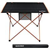 MARCHWAY Lightweight Folding Roll Up Camping Picnic Table,...