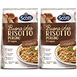 Riso Scotti Rissoto with Dried Porcini Mushrooms 210 gms (Pack of 2)