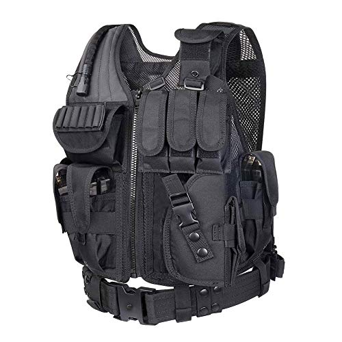 Hero egg Tactical Vest CS Field Outdoor Ultra-Light Breathable Combat Training Airsoft Paintball Vest Adjustable for Adults