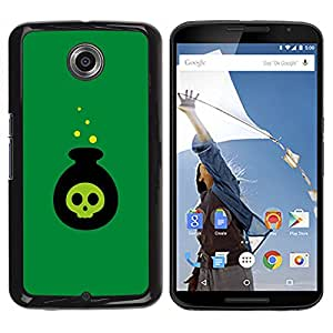 FU-Orionis Colorful Printed Hard Protective Back Case Cover Shell Skin for NEXUS 6 / X / Moto X Pro - Bikini Atoll - Nuclear Bomb Explosion