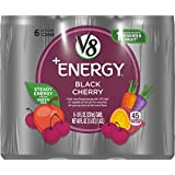 V8 +Energy, Juice Drink with Green Tea, Black Cherry, 8 oz. Can (4 packs of 6, Total of 24)