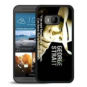 Unique And Popular HTC ONE M9 Case ,George Strait 3 Black HTC ONE M9 Screen Cover Beautiful Designed