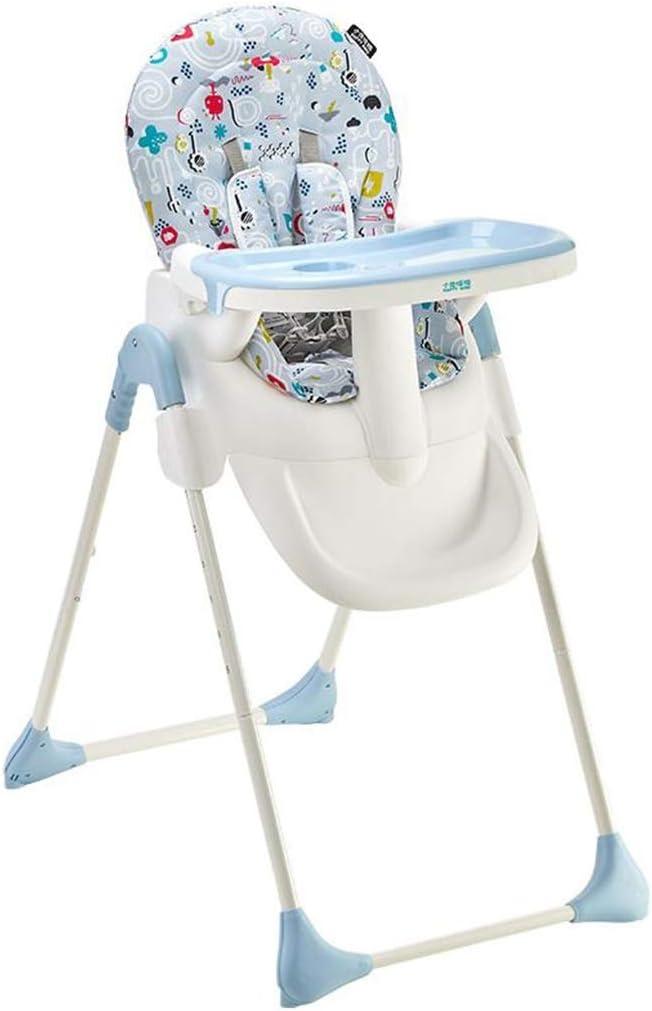 ベビーチェアハイチェア子ども椅子子供お食事椅子 幼児調節可能な折りたたみダイニングチェア赤ちゃん供給ハイチェアスツール、取り外し可能なトレイ、6つの異なる高さ&&快適な300 Dオックスフォード生地 (Color : B)