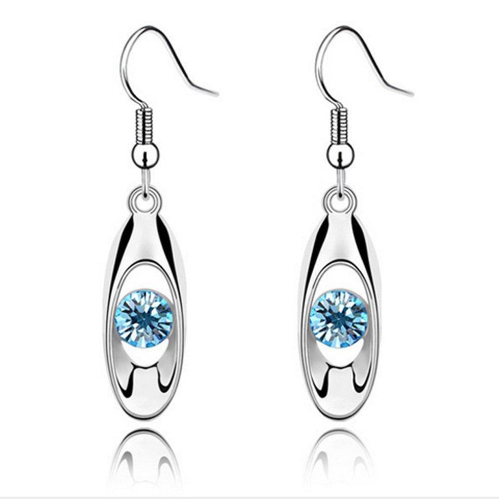 Iumer Fashion Crystal Drop Earring Oval Dangle Earrings