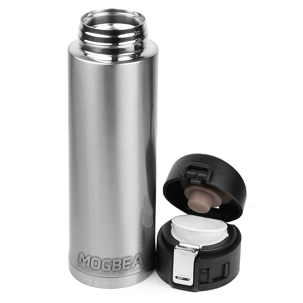 Mogbea (TM)16 OZ. stainless steel coffee mug (Stainless) Superior Double-Wall Vacuum Insulation Technology Delivers Better Performance than Foam by Mogbea(TM) (Image #1)