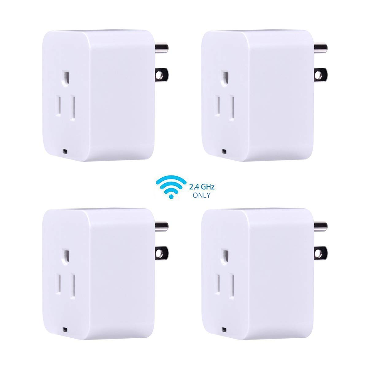 Smart Plug, POWRUI Mini WIFI Outlet Compatible With Amazon Alexa & Google Home,No Hub Required Timing Function Control Your Home,ETL certified, (4 pack)