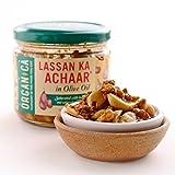Organica (Delhi) Lassan Ka Achaar Indian Garlic Pickle in Olive Oil - 300 gm