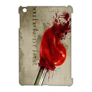 Custom broken heart Printed Hard Plastic Back Protective Case for Apple Ipad Mini 2 FC-3