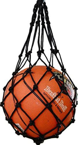 Bailuoni Mesh Sports Ball Bag Sport Useful Ball Mesh Nylon Net Bag Ball Carry Mesh For Volleyball Basketball Football Soccer (Black, Crude)